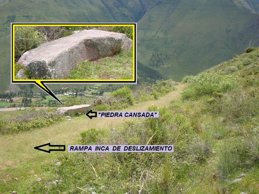 Уставшие камни в каменоломнях Качикаты (фото - http://misapuntesvadillo.blogspot.ru/2012/04/ollantaytambo-y-cachicata.html by - Juan Bautista De La Salle)