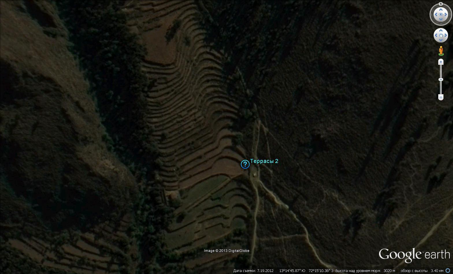 Геометрически правильные террасы вокруг ОльянтайтамбоГеометрически правильные террасы вокруг Ольянтайтамбо