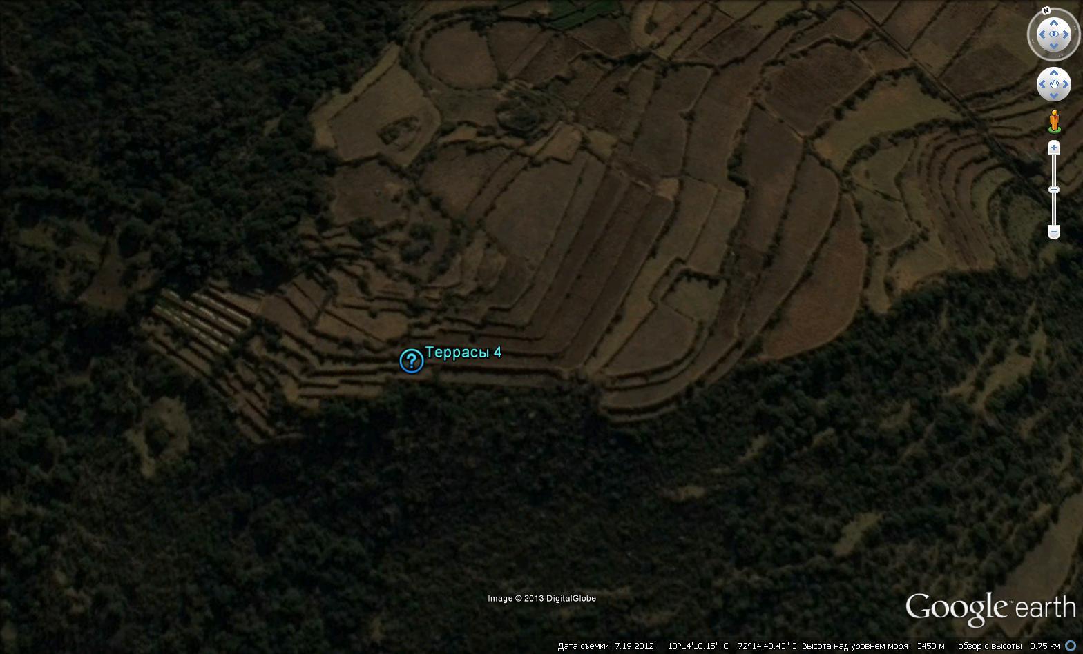 Геометрически правильные террасы вокруг Ольянтайтамбо