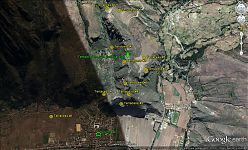 Примерная карта террас вокруг археологического комплекса Писак