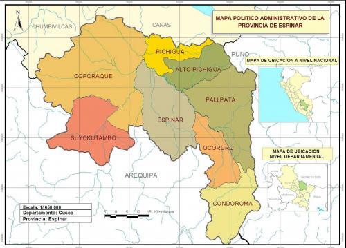 Район Пичигуа, где предположительно расположен объект Муёгава (фото - http://www.muniespinar.gob.pe/web2.0/ciudad/distritos-de-espinar.html)