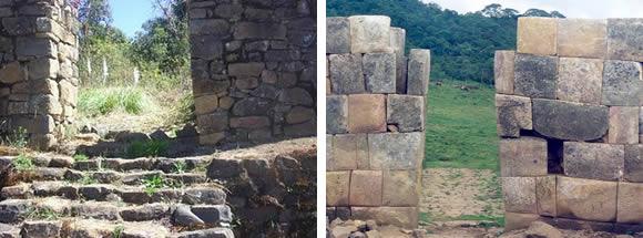 Рис.3 Справа – внутренняя сторона врат инков в Аяпата (фото - http://ciudad-piura.blogspot.ru/2010/08/ruinas-de-aypate.html )