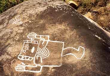 Рис.13 Древний «астронавт», название придумано не мной, его действительно так называют местные. (фото - http://www.deperu.com/cultural/sitios-arqueologicos/petroglifos-de-samanga-1732)
