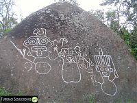 Рис.14 Петроглиф – «три фигуры» (фото - http://turismosoluciones.wordpress.com/eventos/)
