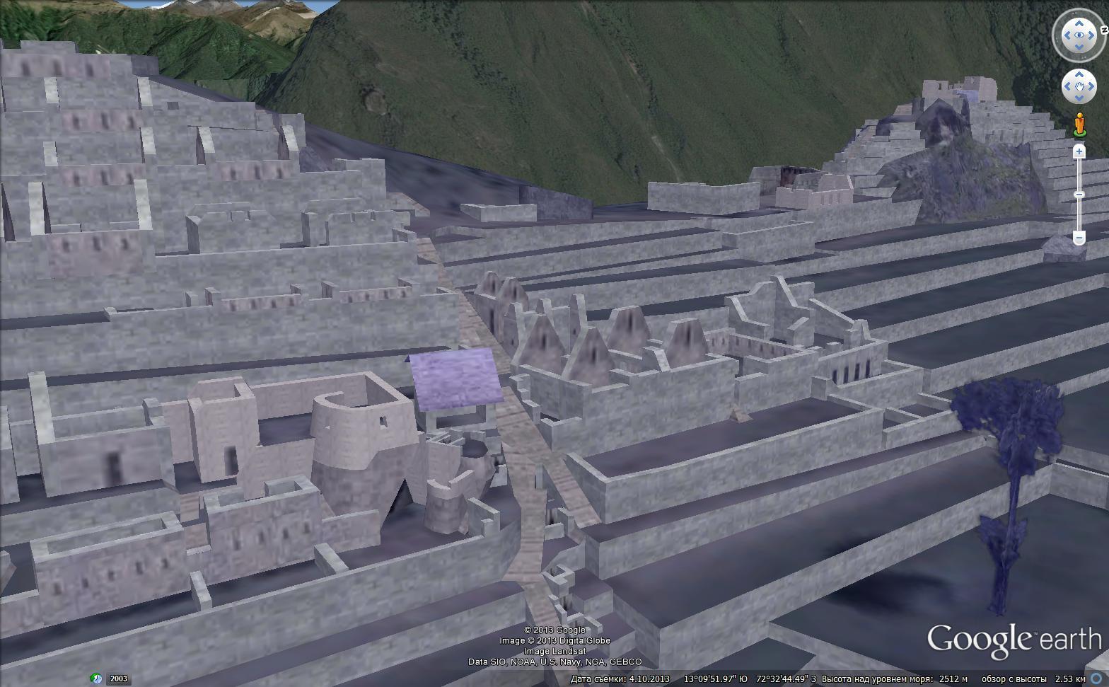 Рис.2.1.27 3D-модель Храма Солнца и прилегающих к нему строений.